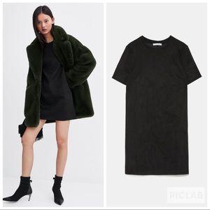 NWT • Zara • Faux Suede Dress